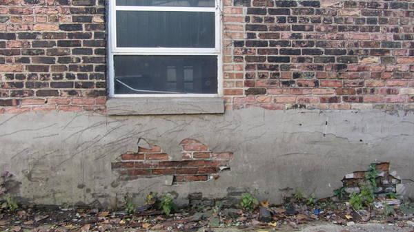 Photograph - Brick Broken Plaster And Window by Anita Burgermeister