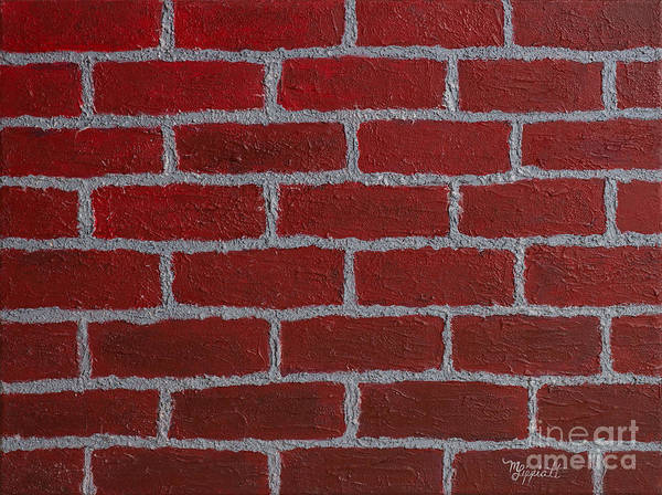 Brick House Mixed Media - Brick By Brick by Minnie Lippiatt