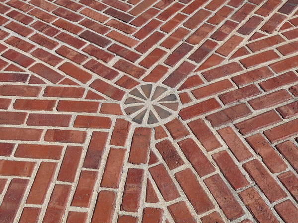 Photograph - Brick Geometry by Jeff Lowe