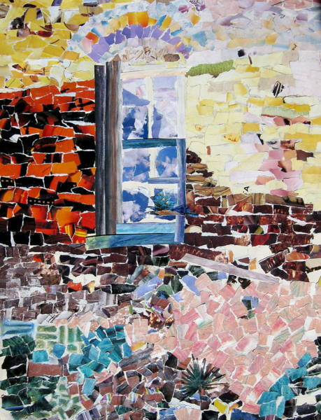 Brick House Mixed Media - Brick House View  by Laura Garrison