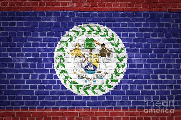 Belize Digital Art - Brick Wall Belize by Antony McAulay