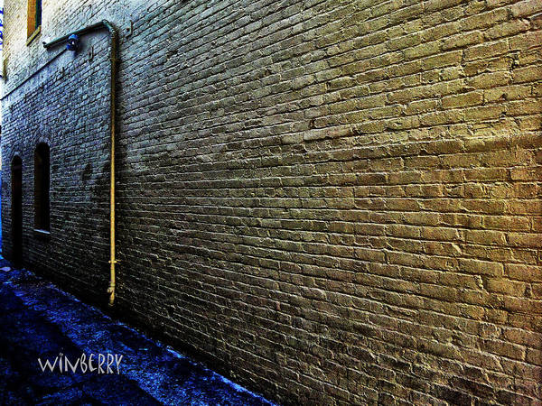 Digital Art - Brick Wall by Bob Winberry
