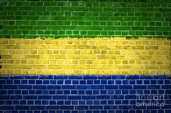Gabon Digital Art - Brick Wall Gabon by Antony McAulay