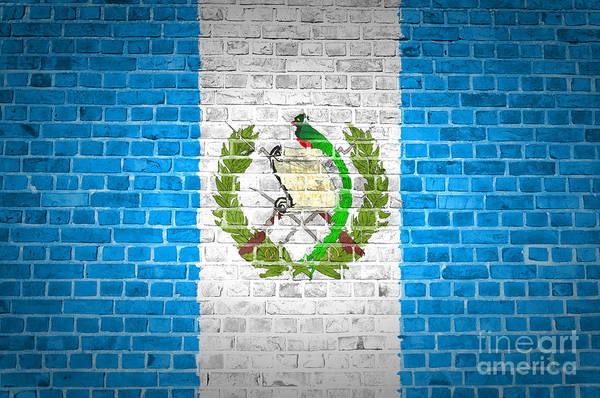Guatemala Flag Digital Art - Brick Wall Guatemala by Antony McAulay
