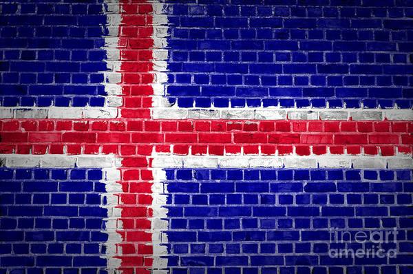 Iceland Digital Art - Brick Wall Iceland by Antony McAulay