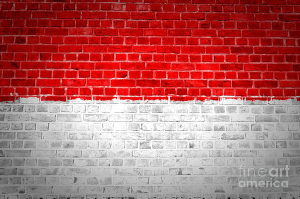 Indonesia Digital Art - Brick Wall Indonesia by Antony McAulay