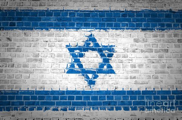 Israel Digital Art - Brick Wall Israel by Antony McAulay