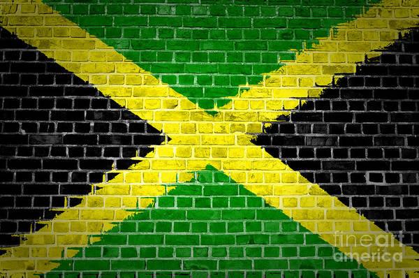 Jamaica Digital Art - Brick Wall Jamaica by Antony McAulay