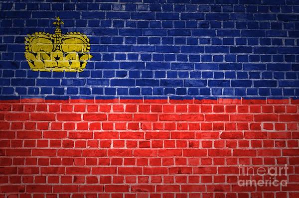 Liechtenstein Digital Art - Brick Wall Liechtenstein by Antony McAulay
