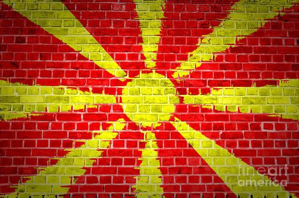 Macedonia Digital Art - Brick Wall Macedonia by Antony McAulay