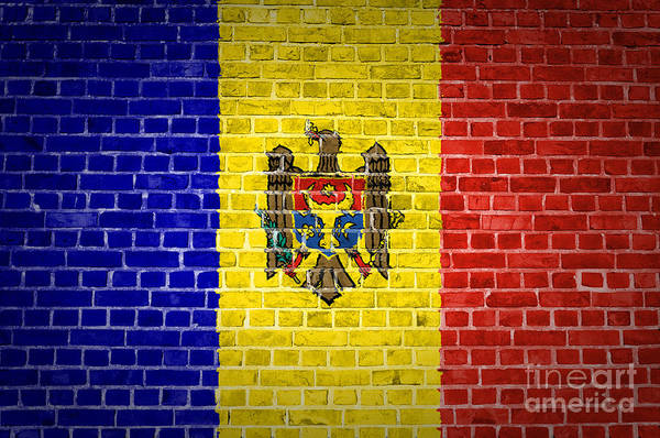 Moldova Wall Art - Digital Art - Brick Wall Moldova by Antony McAulay