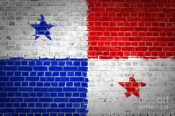 Panama Digital Art - Brick Wall Panama by Antony McAulay
