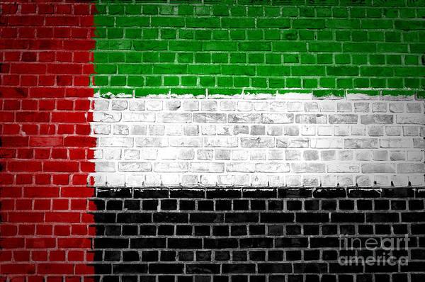 Arab Digital Art - Brick Wall United Arab Emirates by Antony McAulay