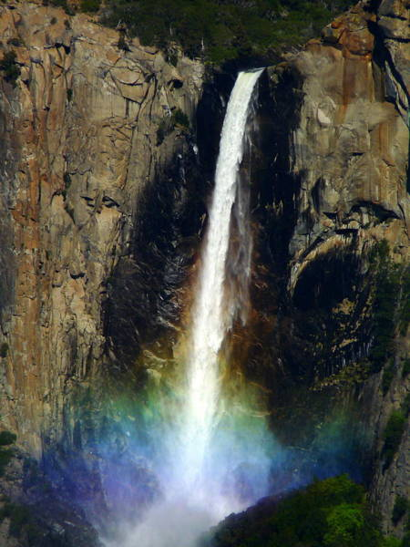 Photograph - Bridalveil Falls And Rainbow by Jeff Lowe