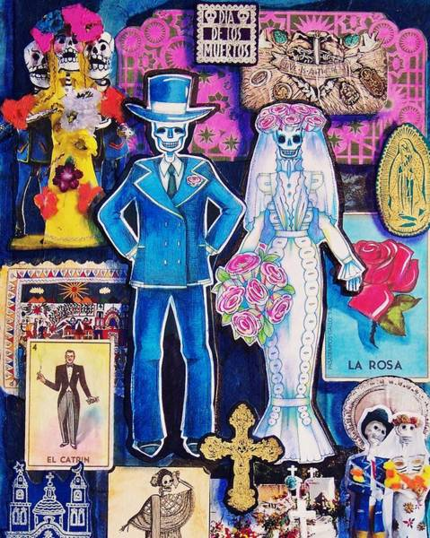Wall Art - Mixed Media - Bride And Groom by Candy Mayer