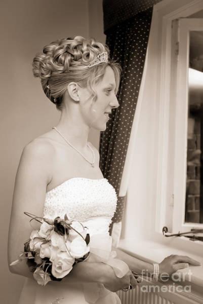 Wedding Bouquet Photograph - Bride Awaits Her Groom by Amanda Elwell