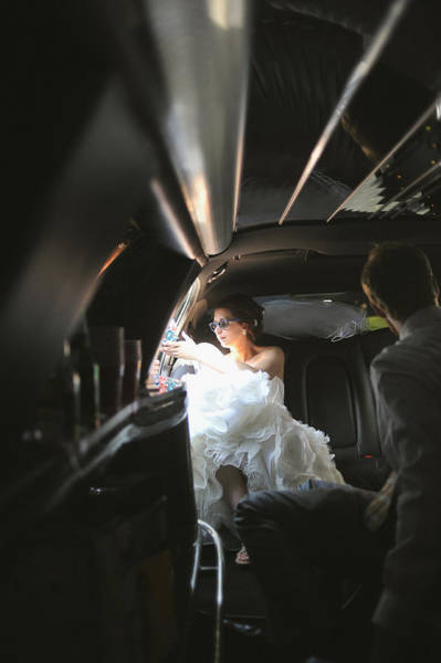 Wall Art - Photograph - Bride In Limousine by Mike Hope
