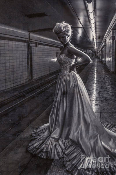 Bride Photograph - Bride In The Subway by Diane Diederich