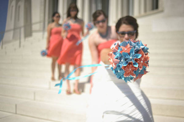 Wall Art - Photograph - Brides And Shades And Maids And Bouquets by Mike Hope