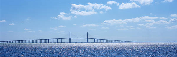 Wall Art - Photograph - Bridge Across A Bay, Sunshine Skyway by Panoramic Images