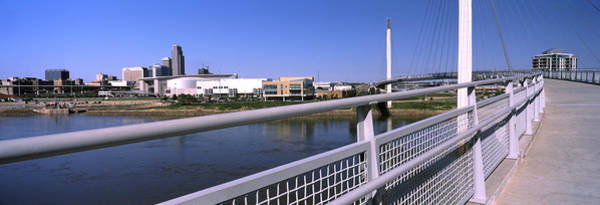 Riverwalk Photograph - Bridge Across A River, Bob Kerrey by Panoramic Images