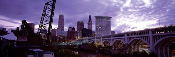 Suspended Photograph - Bridge Across A River, Detroit Avenue by Panoramic Images