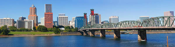 Willamette Photograph - Bridge Across A River, Hawthorne by Panoramic Images