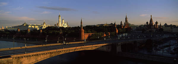 Soviet Union Photograph - Bridge Across A River, Kremlin, Moskva by Panoramic Images