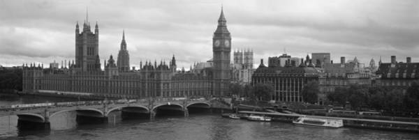 Houses Of Parliament Wall Art - Photograph - Bridge Across A River, Westminster by Panoramic Images