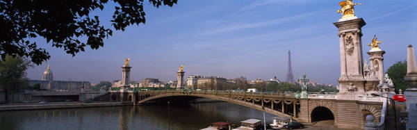 Alexandre Photograph - Bridge Across A River With The Eiffel by Panoramic Images
