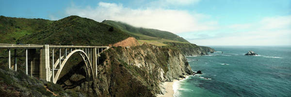 Wall Art - Photograph - Bridge Across Hills At The Coast, Bixby by Panoramic Images