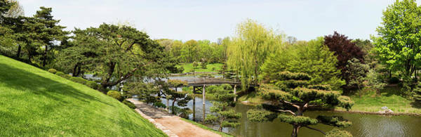 Chicago Botanic Garden Photograph - Bridge And Japanese Garden, Chicago by Panoramic Images