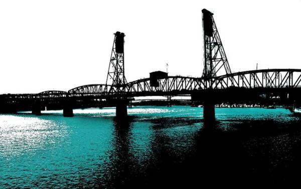 Pdx Photograph - Bridge And Water by Cathie Tyler
