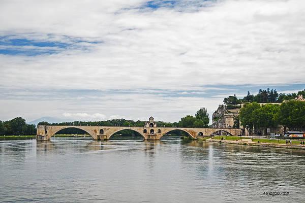 Photograph - Bridge At Avignon by Allen Sheffield