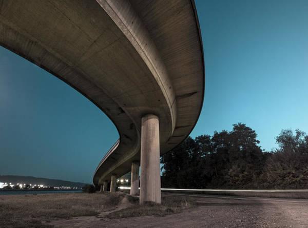 Belgium Photograph - Bridge At Night by Thierry Dosogne