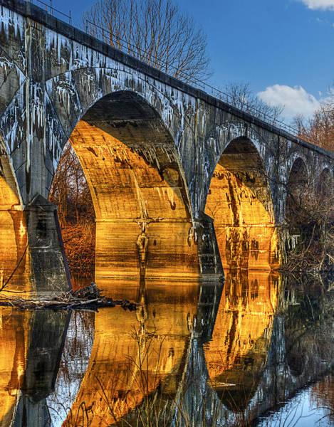 Photograph - Bridge At Sunrise by Rick Mosher