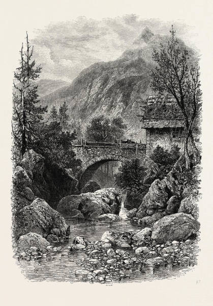Bridge Below Gavarnie, The Pyrenees, France Art Print