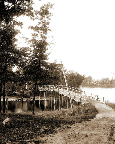 Michigan Drawing - Bridge Between Hogsback And Belleview Island, Lake Orion by Litz Collection