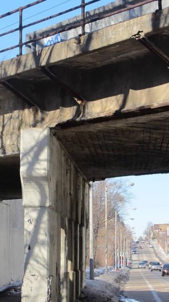 Photograph - Bridge Decayed Columns by Anita Burgermeister