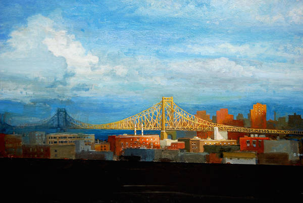 Painting - Bridge In Sunlight by Mel Greifinger