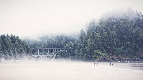 Photograph - Bridge In The Mist  by Carrie Cole