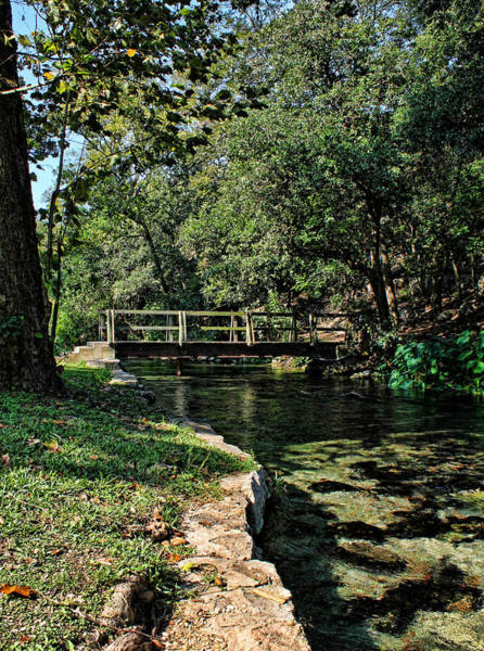 New Braunfels Photograph - Bridge Of Serenity by Judy Vincent