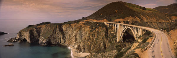 Peacefulness Photograph - Bridge On A Hill, Bixby Bridge, Big by Panoramic Images