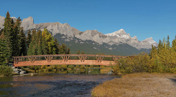 Canmore Photograph - Bridge On Policemans Creek, Rundle by Panoramic Images