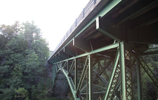 Vermont Photograph - Bridge Over A Gorge In Vermont by Michael Duva