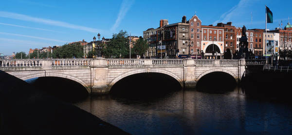 River Liffey Wall Art - Photograph - Bridge Over A River, Oconnell Bridge by Panoramic Images
