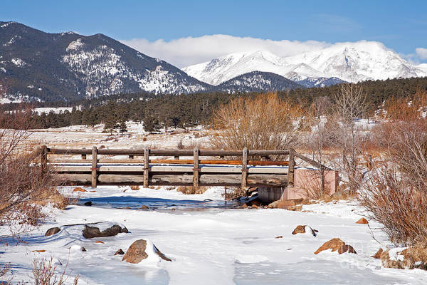 Photograph - Bridge Over Big Thompson In River Moraine Park Rocky Mountain National Park by Fred Stearns