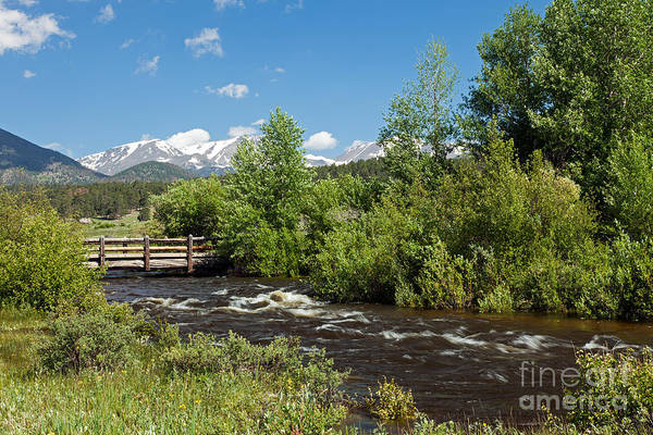 Photograph - Bridge Over Big Thompson River In Moraine Park In Rocky Mountain National Park by Fred Stearns