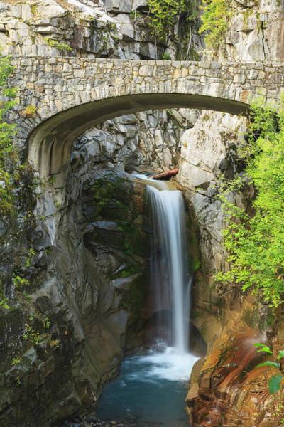 Bridge Over Christine Waterfall Mount Art Print