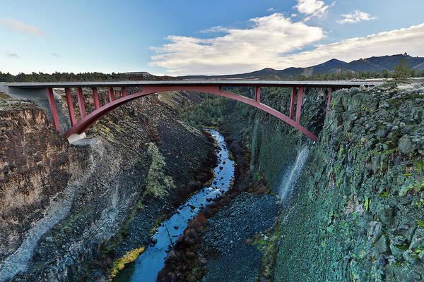 Deschutes River Photograph - Bridge Over Deschutes River, Hightway 97 by Darrell Gulin